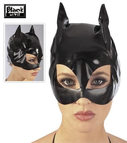Maske - CAT-MASK Lack schwarz