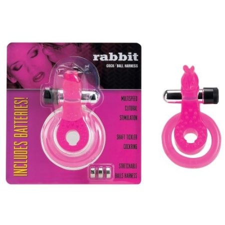 Cock&Ball Harness RABBIT (Penis Hoden Ring) - pink