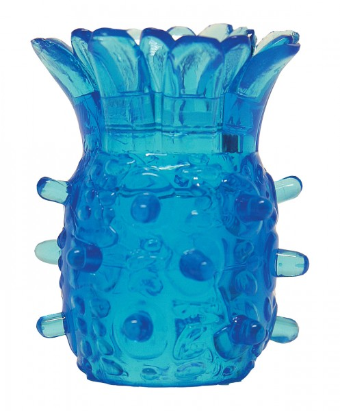Silikon Cock Ring - STRECHY - blau