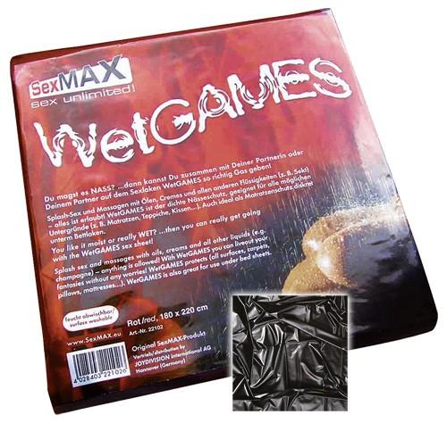 SexMax WetGames Laken - 180x220 - schwarz
