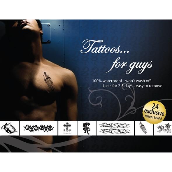 Temporary Tattoo Set - For Guys