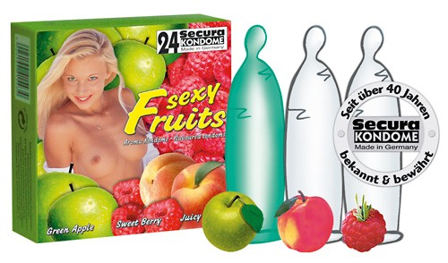 Secura - SEXY FRUITS - 24 Kondome