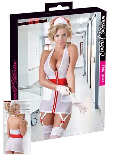Krankenschwester-Set - Minikleid und Haarreif