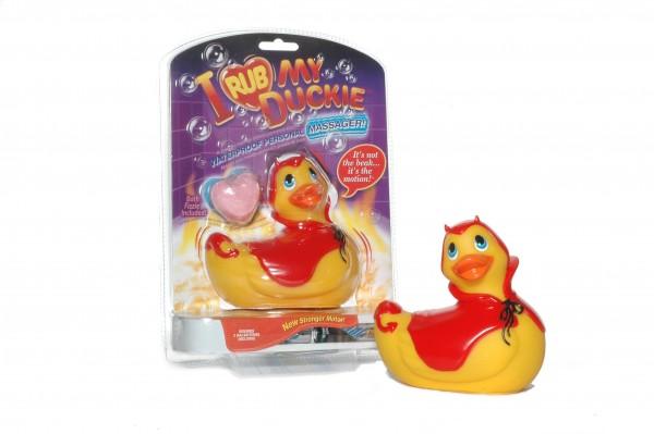 Bade-Ente - I rub my Duckie - DEVIL red