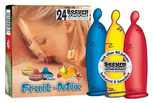 Secura - FRUIT-MIX - 24 Kondome