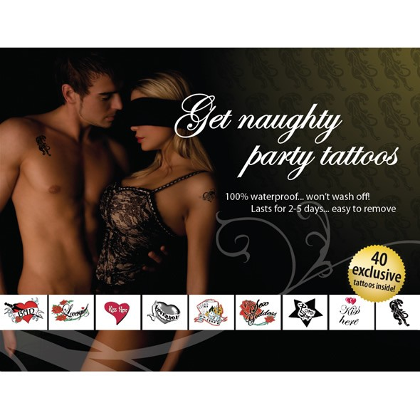 Temporary Tattoo Set - Get Naughty Party