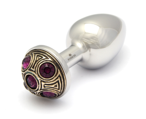 Rosebuds - Butt Plug - Luxe STRASSBUD Purple